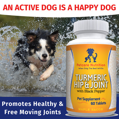 Dog Joint Supplement With Turmeric, Glucosamine, Chondroitin, MSM & Hyaluaronic