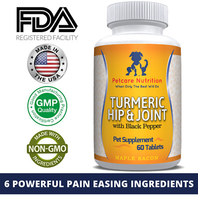 Turmeric Dog Joint Supplement for Stiff and Older Dogs With Arthritis & in Pain