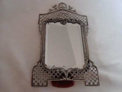 Antique OTTOMAN EMPIRE Solid Silver Dressing Table Mirror - Exquisite