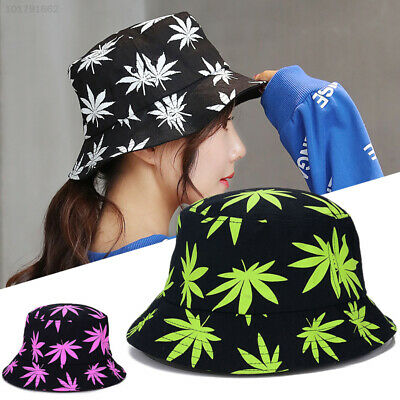 693B Maple Leaf Fisherman Hat Adults Ultraviolet Travel Bucket Hats Decoration