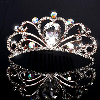 022E Wedding Bridal Crystal Rhinestone Headband Crown Comb Tiara Prom Jewelry
