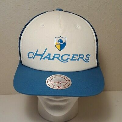 f0615af4107e6a San Diego Chargers Mitchell & Ness Nostalgia Adjustable Snapback Blue White