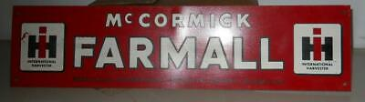 Vintage Metal Door Push McCormick Farmall IH International Harvester