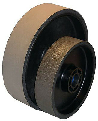 "BUTW 6"" x 1 1/2"" x 3000 grit diamond grinding soft flex wheel East"