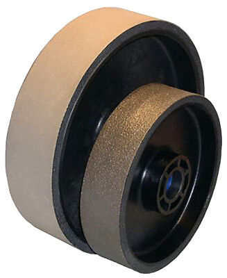 BUTW 8 x 2 x 100,000 grit diamond soft flex lapidary grinding wheel East