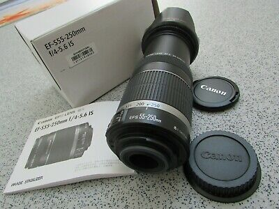 Genuine Canon EF-S 55-250mm F/4-5.6 IS Image Stabilizer Zoom Lens (BM52)