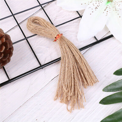 50pcs 25cm natural brown jute hemp rope twine string cord shank craft makingBCD