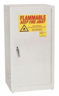 EAGLE 1906WHTE Flammable Safety Cabinet,16 gal.,White