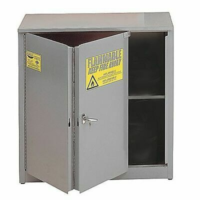 EAGLE 3010GRAY Flammable Safety Cabinet,30 gal.,Gray