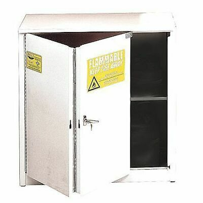 EAGLE 3010WHTE Flammable Safety Cabinet,30 gal.,White