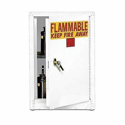 EAGLE 1903WHTE Flammable Safety Cabinet,4 gal.,White