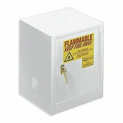 EAGLE 1904WHTE Flammable Safety Cabinet,4 gal.,White