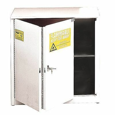 EAGLE 1930WHTE Flammable Safety Cabinet,30 gal.,White