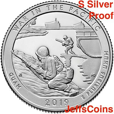 2019 S Guam's War in the Pacific National Historical GU 99% SILVER Proof Quarter
