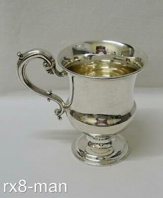 STUNNING RARE 1842 ANTIQUE SOLID STERLING SILVER CHRISTENING CUP MUG  - 106g