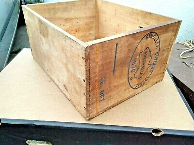 Old Vintage Wooden Storage Box Crate - Australian Cheddar Cheese