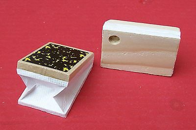 Bellow tops,  new easy replacement for cuckoo clocks.  40 mm wide x  60 mm long.
