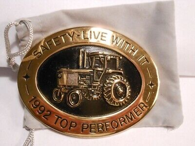 Nos 1992 John Deere Safety Live With It Top Performer Belt Buckle N0. 075