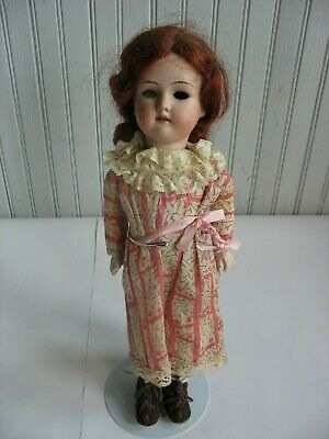 """ANTIQUE 14"""" SMALL Girl DOLL MARKED C GERMANY 410 X Papier Paper mache body"""