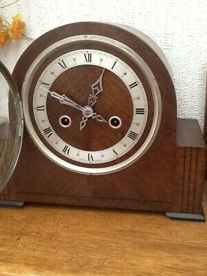 Antique Wooden Mantle Clock