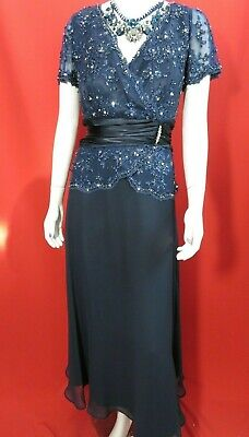 JOVANI NAVY FORMAL DRESS BRIDESMAID MOTHER OF THE BRIDE Size 12