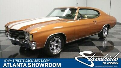 1972 Chevrolet Chevelle -- classic vintage chrome chevy 350 v8 auto transmission muscle mojave gold
