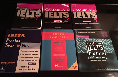 IELTS Cambridge 1,2,3, Testbuilder, insight into IELTS extra, practice tests