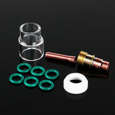 10Pcs 1.6mm 1/16inch Tig Welding Torch Stubby Gas Lens #12 Pyrex Cup Kit For