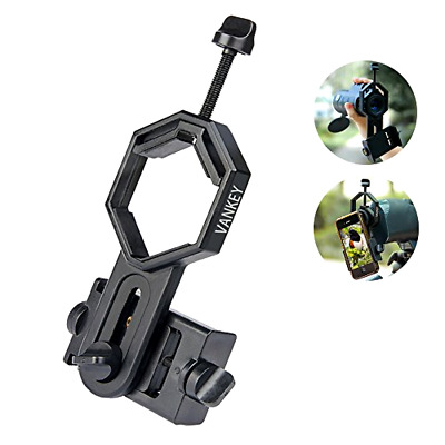 Vankey Cellphone Telescope Adapter Mount, Work with Binocular Monocular Spotting