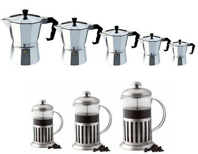 Cafetiere Coffee Press Glass Plunger Filter Aluminium Stove Top Coffee Maker Uk