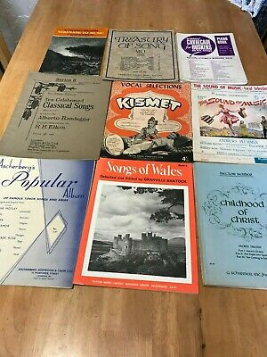Vintage Bundle of 8 Song Books 1 Piano Book