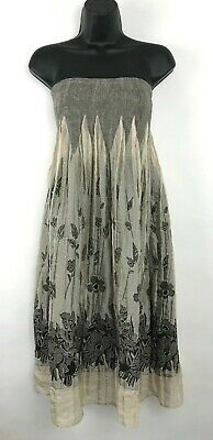 0e3bb22d86 Lapis Anthropologie Floral Embroidered Tube Convertible Dress Skirt One Size  NWT