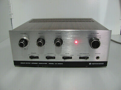 Kenwood KA-2000A Rare 70s Stereo Amplifier Made In Japan Serviced & In G.W.O