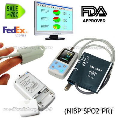 CONTEC US PM50 Portable Patient Monitor Vital Signs NIBP SPO2 Pulse Rate Meter