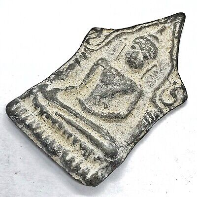 Thailand Siam Asian Buddhist Artifact Monks Amulet Antique Old Talisman Temple A