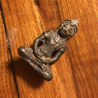 Thailand Siam Asian Buddhist Artifact Monks Amulet Antique Old Talisman Temple C