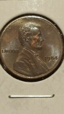 1984-P Lincoln Memorial Penny Obverse brown Reverse RED!!please look at picture
