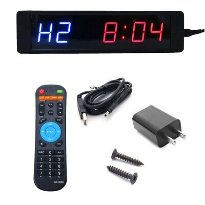 Programmable Crossfit Interval Timer Wall Clock W/ Remote for Tabata Fitness