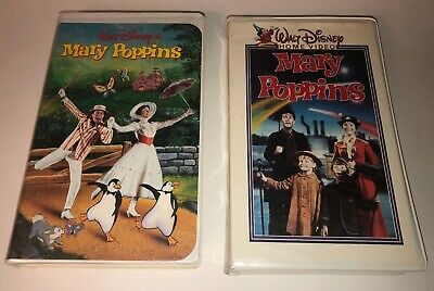 Lot of 2 Disney Mary Poppins VHS Tapes Clamshell