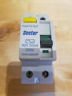 BRAND NEW Sector SVRCCB80/DP 80A 30mA RCD