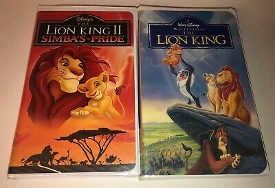 """Disney Original VHS The Lion King and and The Lion King """"Simba's Pride"""" Awesome!"""