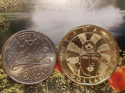 2000 Pride Quarter & 2019 Equality Loonie (Loonie is Brilliant Uncirculated