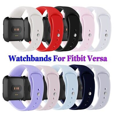 Sports Soft Watchband Wristbands Bracelet Strap Silicone Band For Fitbit Versa