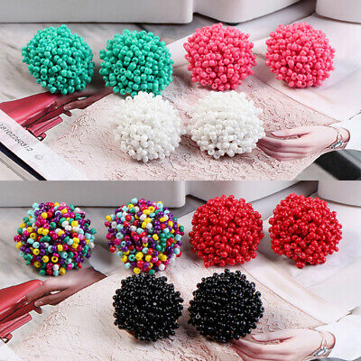 1 Pair Round Seed Beads Stud Earrings Women Fashion Jewelry Ear Studs Gift