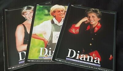 Diana. A Tribute To The People's Princess. 3 Parts. Sunday Mirror supplements.