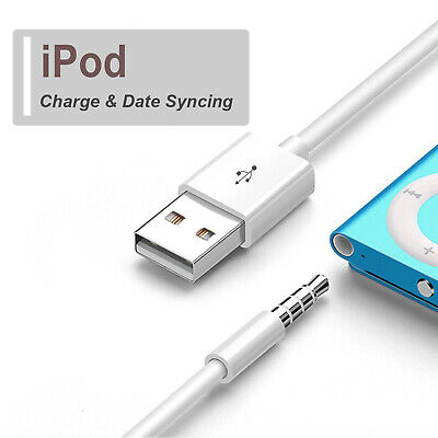 For Apple iPod Shuffle 3rd 4th 5th 6th 7th USB Sync/Charger Cable Cord White-CA