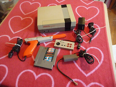 NINTENDO ENTERTAINMENT SYSTEM NES CONSOLE w/1 Game & Zapper NEW 72 PIN INSTALLED