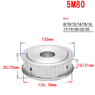 5M-80T Timing Pulley Synchronous Wheel Bore 8mm-20mm for Reprap 3D Printer CNC