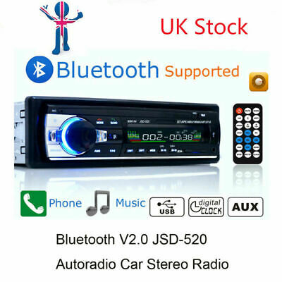 Car Radio Stereo Digital Bluetooth MP3 Player AUX Steering Control ISO Interface