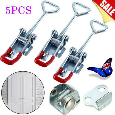 5pcs Latch Catch  Stainless Steel Cabinet Boxes Handle Toggle Lock Clamp Hasp AU
